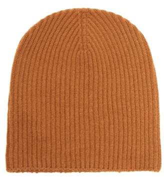 Edward Crutchley - Ribbed Knit Cashmere Beanie Hat - Womens - Camel