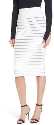 BOSS Fairuza Stripe Knit Pencil Skirt