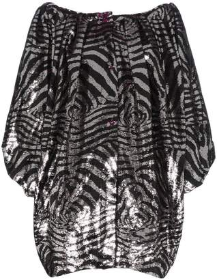 Halpern off-shoulder sequin silk dress