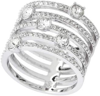 Swarovski Silver-Tone Creativity Wide Ring