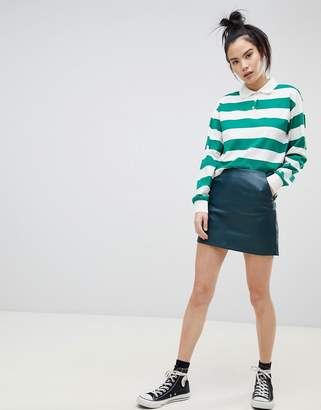 Pull&Bear basic pu skirt