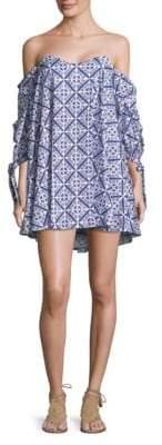 Caroline Constas Gabriella Geometric-Print Dress