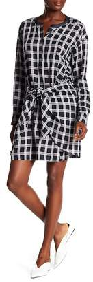 Rag & Bone Plaid Tie Front Dress