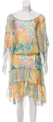 Max Mara Silk Printed Skirt Set