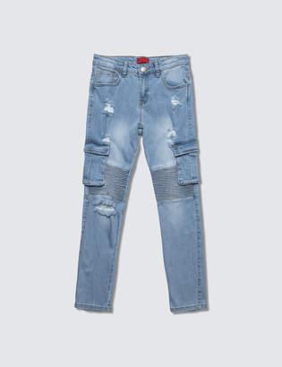 Clayton Haus Of Jr Cargo Biker Jeans
