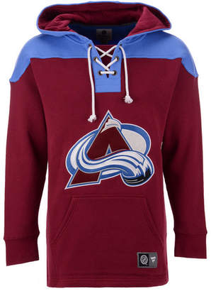Majestic Men Colorado Avalanche Breakaway Lace Up Hoodie