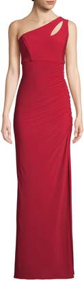 Xscape Evenings Keyhole One-Shoulder Evening Dress