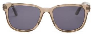 Cartier Eyewear - D Frame Acetate Sunglasses - Mens - Light Grey