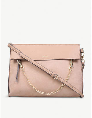 628f536571d Aldo Asiasien faux-leather and suedette clutch