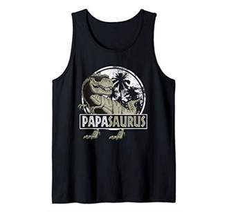 Mens Papasaurus T-rex Papa Saurus Dinosaur Men Dad Daddy Tank Top