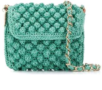 M Missoni pompom knit crossbody bag