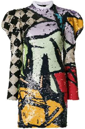 Nina Ricci abstract sequin dress