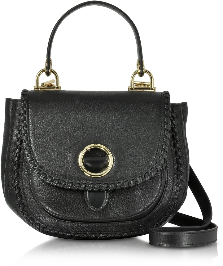 MICHAEL Michael Kors Michael Kors Isadore Medium Top Handle Black Pebble Leather Messenger Bag