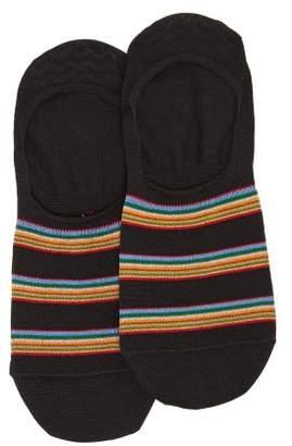 Paul Smith - Striped Cotton Blend Invisible Socks - Mens - Black
