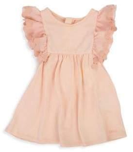 Chloé Baby Girl's Double Ruffle Sleeve Dress