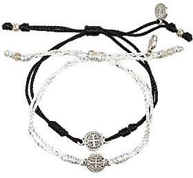 My Saint My Hero Breathe Blessing Silvertone Bracelet Set