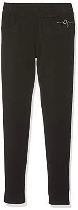 GUESS J71B50K51X0 Trousers, Black (Jet Black W/Frost G), (Manufacturer Size: 12)
