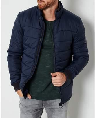 Puffa PETROL INDUSTRIES Mid-Season Short Padded Jacket with High Neck