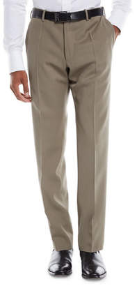 Incotex Men's Benson Crepe Wool Comfort Trousers