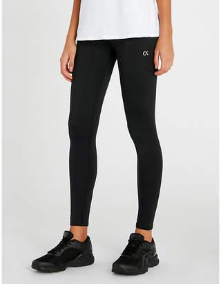 Calvin Klein Logo-print stretch-jersey leggings