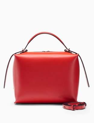 Calvin Klein leather box satchel