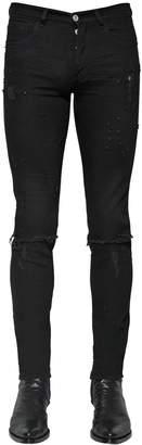 Givenchy Destroyed Slim Fit Cotton Denim Jeans