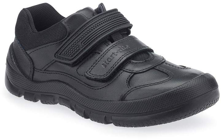 Start-rite Boys Warrior Velcro Strap School Shoe - Black
