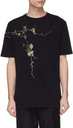 Haider Ackermann Floral embroidered T-shirt