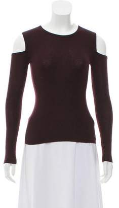 Yigal Azrouel Cold-Shoulder Knit Top