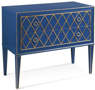 Bassett Mirror Company Selby 2 Drawer Hall Chest, Blue