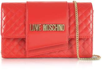Love Moschino Quilted Eco-leather Clutch Bag