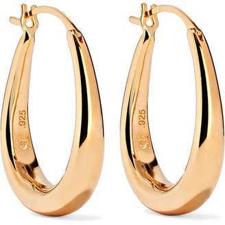 Sophie Buhai - Extra Small Egg Gold Vermeil Hoop Earrings
