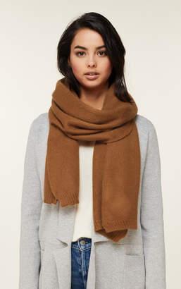 Soia & Kyo ADELINA cozy knit scarf with rib knit edges