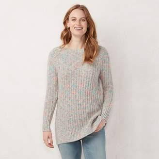 Lauren Conrad Women's Textured Lurex Tunic Sweater