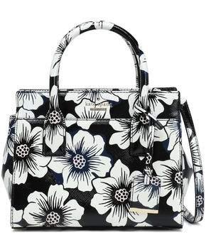 Kate Spade Floral-print Faux Patent-leather Shoulder Bag
