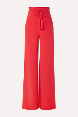 Cushnie Silk-satin Wide-leg Pants - Red