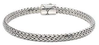 DEVATA Sterling Silver Crocodile Edge Classic Bracelet