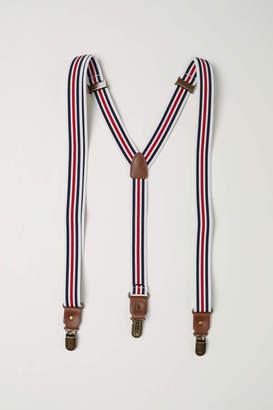 H&M Suspenders - Dark blue/striped - Men