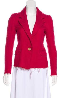 Etoile Isabel Marant Raw-Edge Notched-Lapel Blazer