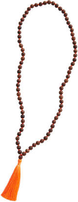 Vineyard Vines Wood Beaded Tassel Necklace