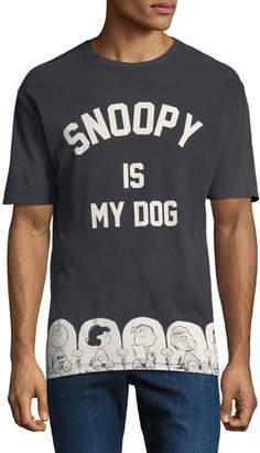 Eleven Paris Men's Peanuts Snoopy Graphic T-Shirt