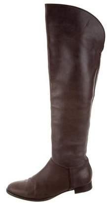 Loro Piana Leather Knee-High Boots