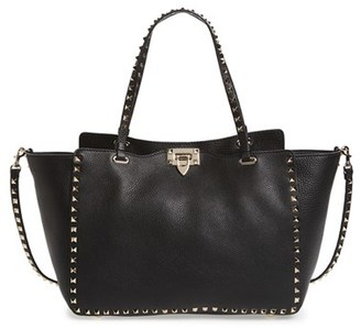 Valentino 'Rockstud' Grained Calfskin Leather Tote $2,495 thestylecure.com