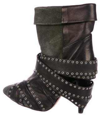 Isabel Marant Leather Grommet Ankle Boots