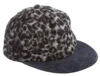Eugenia Kim Suede-Trimmed Wool Cap