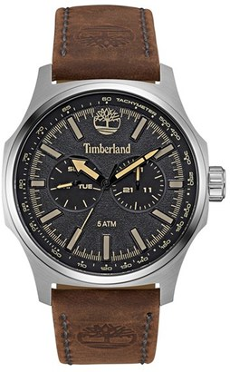 Timberland 'Shermand' Multifunction Leather Strap Watch, 56Mm $159 thestylecure.com