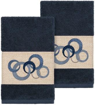 Linum Home Textiles Turkish Cotton Annabelle Embellished Hand Towel Set