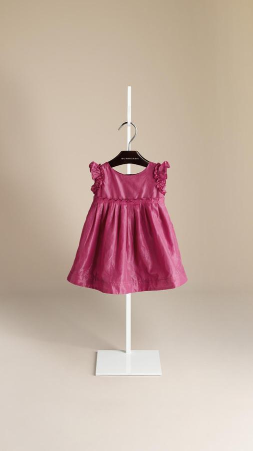 Burberry Ruffle Detail Dress