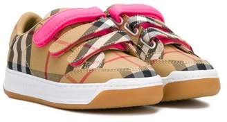 Burberry touch strap sneakers