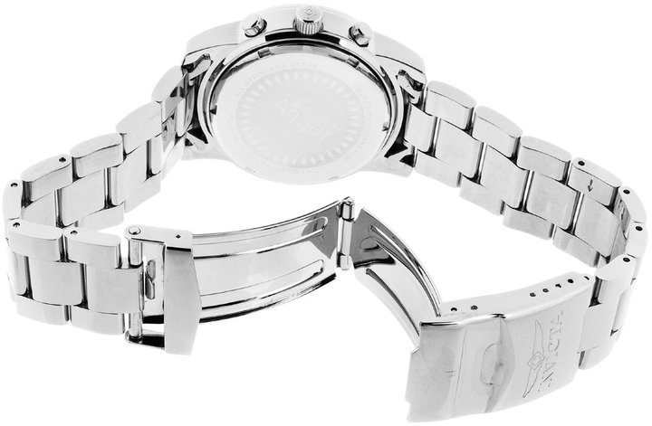 Invicta Women's Angel White Mother Of Pearl Dial White Cubic Zirconia Stainless Steel